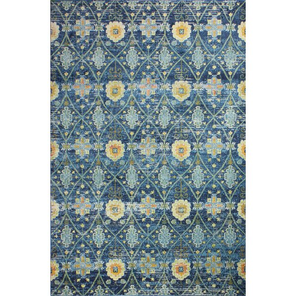 Fidela Navy Area Rug by Bungalow Rose