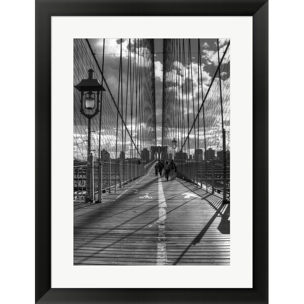 Brooklyn Bridge HDR 1 by Christopher Bliss Framed Photographic Print by Evive Designs