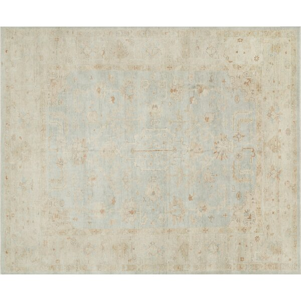 Abelard Hand-Knotted Mist/Stone Area Rug by House of Hampton