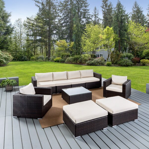 Bennett Sofa Seating Group with Cushions by Sol 72 Outdoor Sol 72 Outdoor