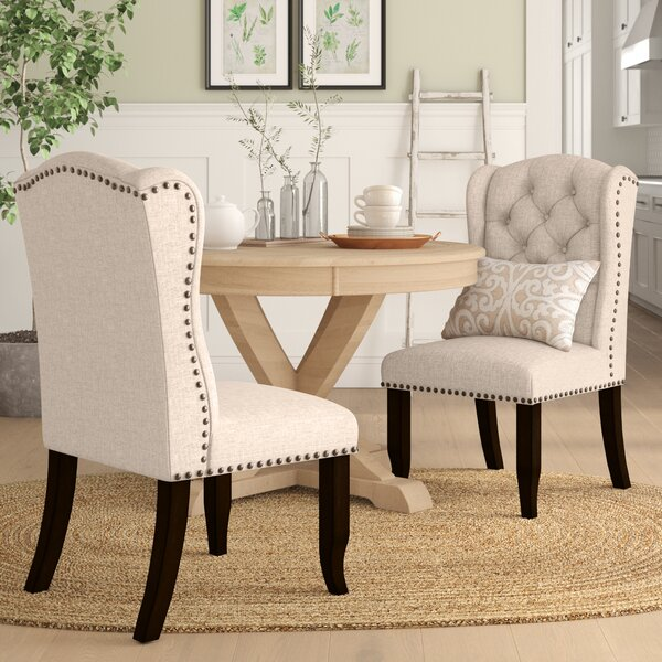 Calila Tufted Upholstered Wingback Side Chair In Beige (Set Of 2) By Birch Lane™ Heritage