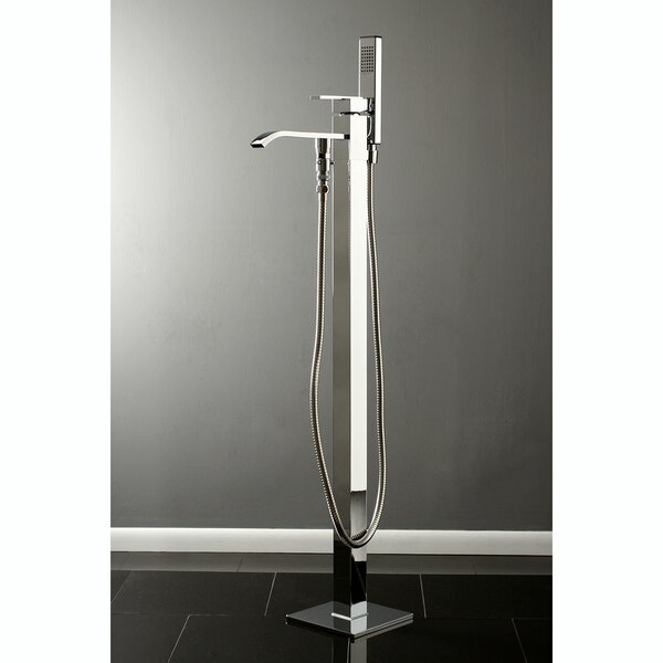 Executive 1 Floor Mounted Freestanding Tub Filler with Hand Shower by Kingston Brass Kingston Brass