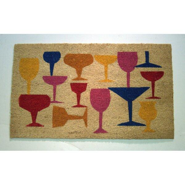 Vesper Wine Glasses Doormat by Ebern Designs