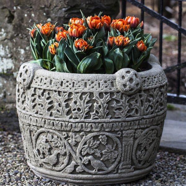 Keough Antique Celtic Large Cast Stone Pot Planter by Astoria Grand