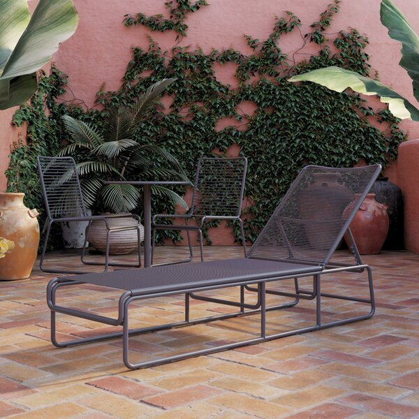 Nyla Adjustable Height Reclining Chaise Lounge by CosmoLiving by Cosmopolitan CosmoLiving by Cosmopolitan