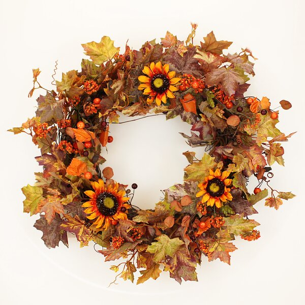 Fall 22 Sunflower and Berries Wreath by The Holiday Aisle