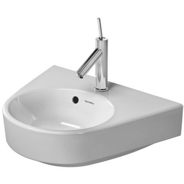 Starck Ceramic 20 Wall Mount Bathroom Sink with Overflow by Duravit
