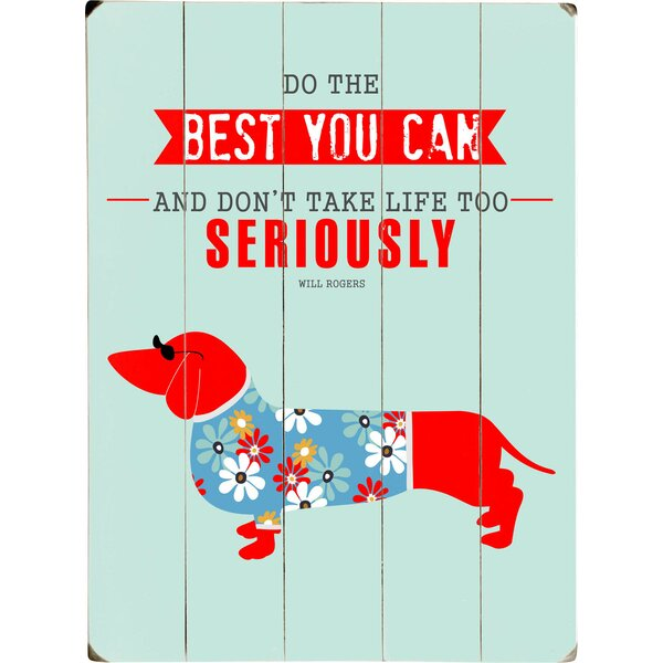 Too Seriously Graphic Art Print Multi-Piece Image on Wood by Artehouse LLC