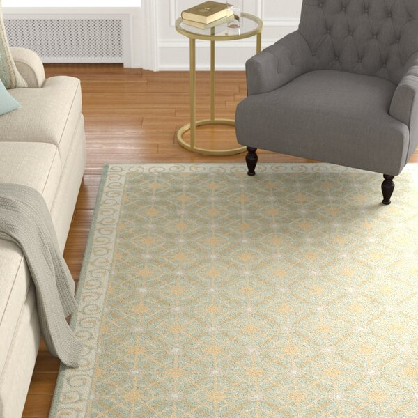 Parish Hand-Woven Cotton Olive/Beige Area Rug by Charlton Home