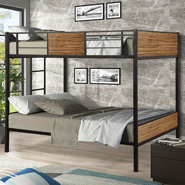 Mapleview Steel Frame Full over Full Bunk Bed by Harriet Bee
