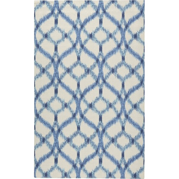 Stewart Indoor/Outdoor Blue/Ivory Area Rug by Waverly