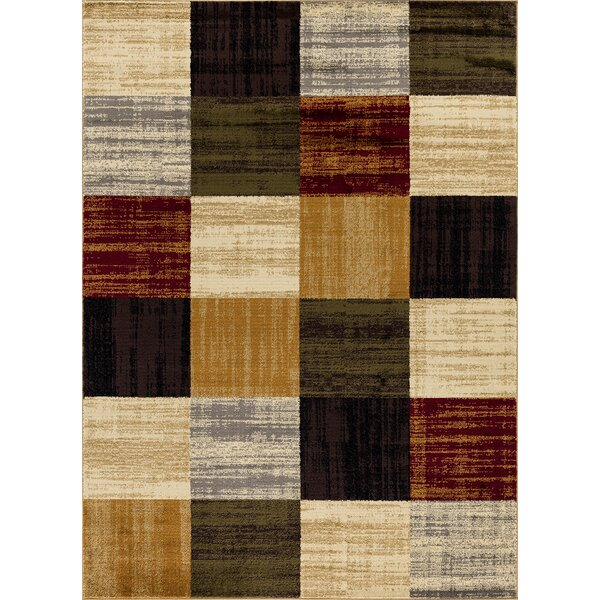 Thorndale Geometric Brown/Beige Area Rug by Winston Porter