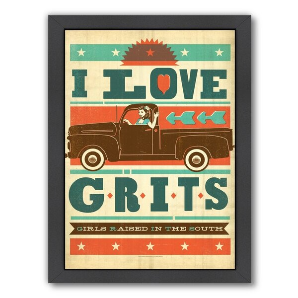 Grits Framed Vintage Advertisement by East Urban Home