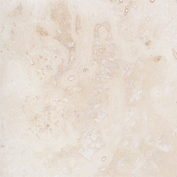 Pueblo 18 x 18 Travertine Field Tile in Ivory Honed by Parvatile