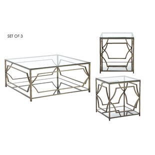 Cormac 3 Piece Coffee Table Set Mercer41