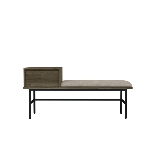 Brooks Wood Metal Storage Bench by Union Rustic