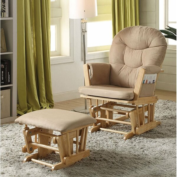 Grose Transitional Glider and Ottoman by Red Barrel Studio