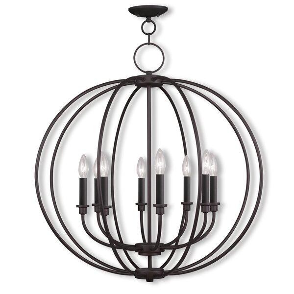 Naomie 8-Light Candle Style Globe Chandelier by Laurel Foundry Modern Farmhouse Laurel Foundry Modern Farmhouse