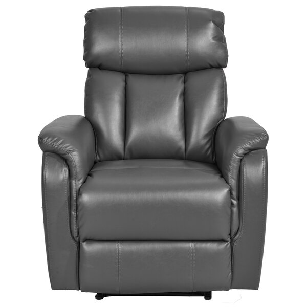 Shellplant Faux Leather Power Recliner W003411862
