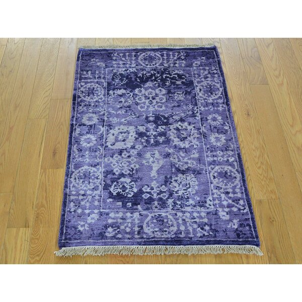 One-of-a-Kind Beason Handwoven Purple Wool/Silk Area Rug by Isabelline