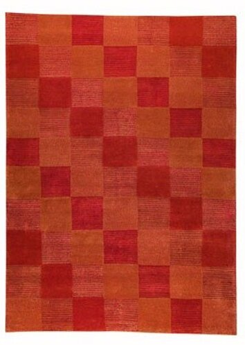 Hoeft Check Orange Rug by Red Barrel Studio