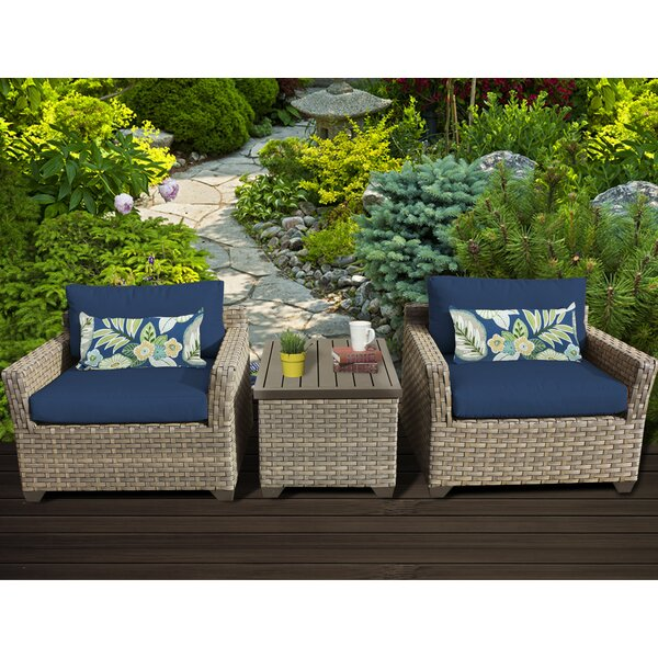 Rochford 3 Piece Conversation Set with Cushions by Sol 72 Outdoor