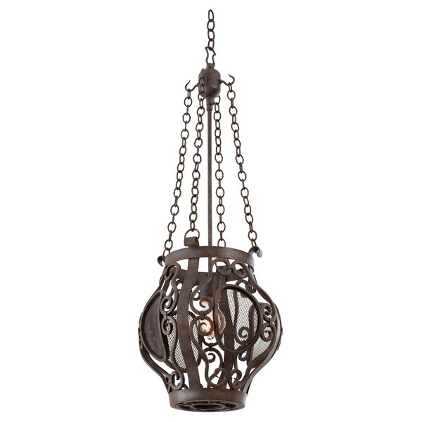 Isabel 1-Light Lantern Urn Pendant by Kalco