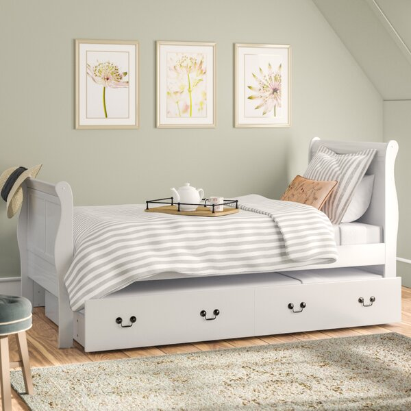 Babcock Sleigh Bed with Trundle by Lark Manor