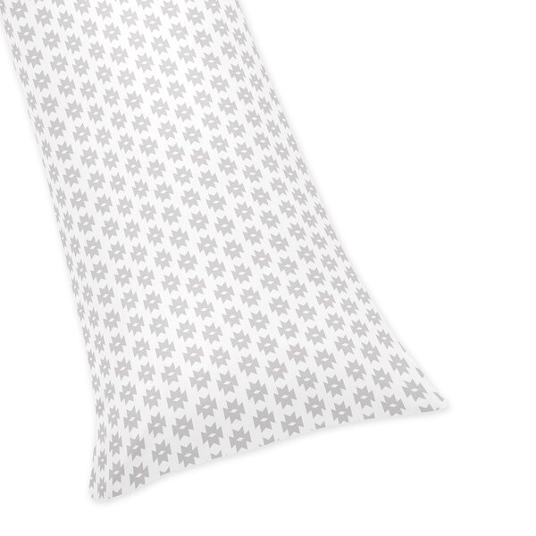 Feather Tribal Geometric Print Body Pillow Case by Sweet Jojo Designs