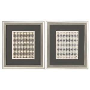 Gray Modele 2 Piece Framed Graphic Art Set by Propac Images