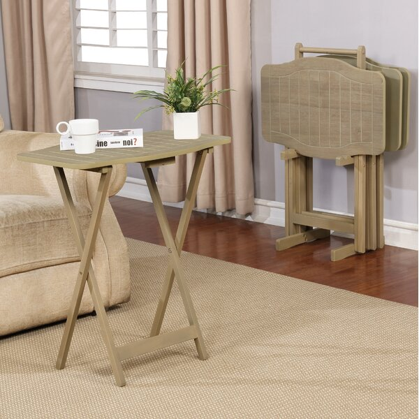 Willbanks 4 Piece Tray Table Set by Loon Peak