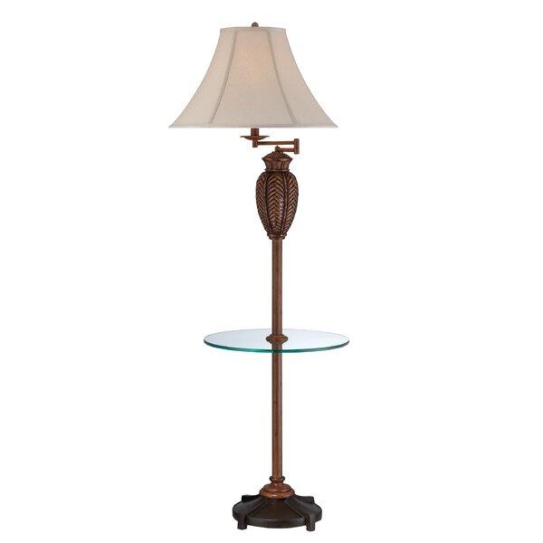 Kaiser Wicker 61 LED Swing Arm Floor Lamp by Highland Dunes