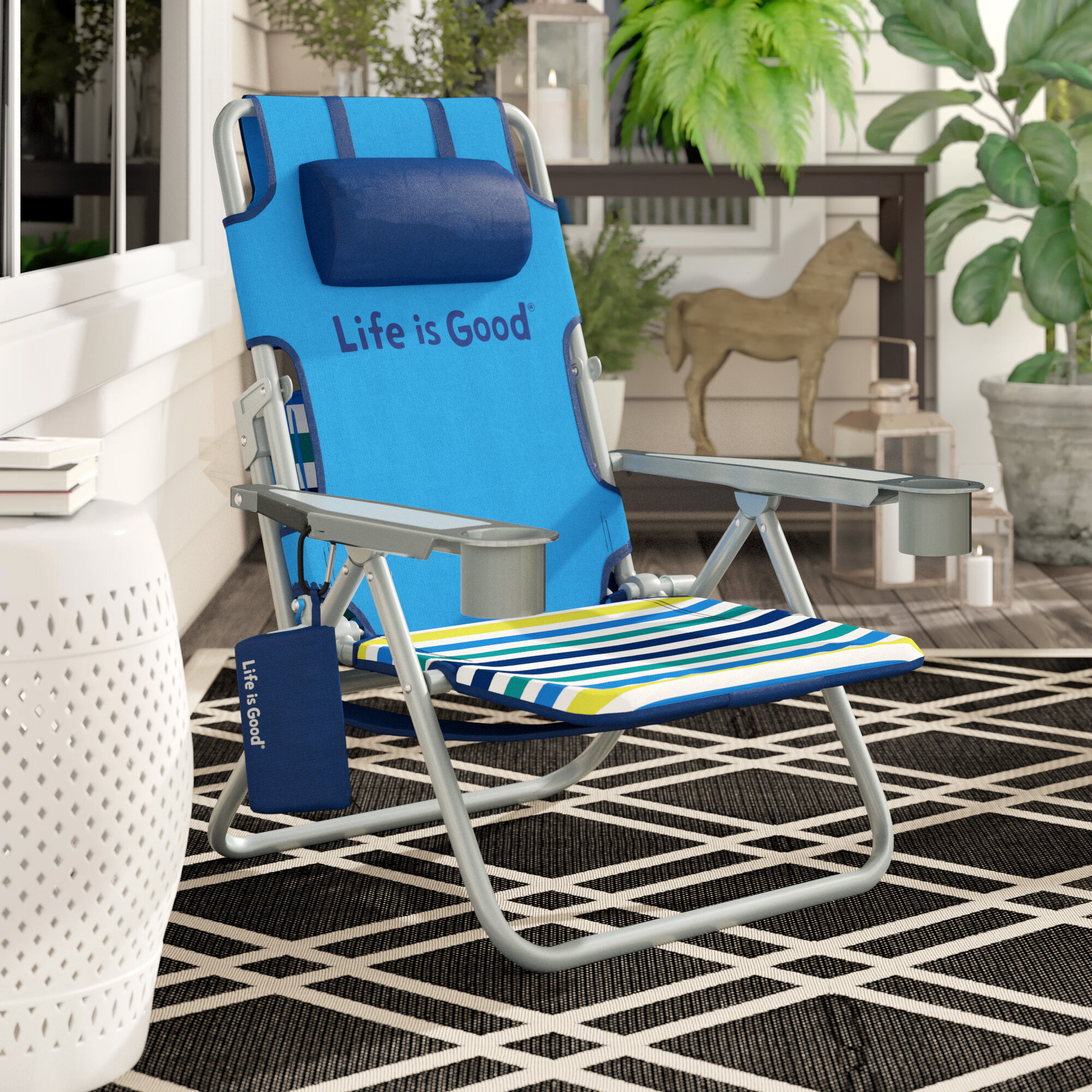 Wondrous Lifeisgood Life Is Good Reclining Beach Chair Reviews Pabps2019 Chair Design Images Pabps2019Com