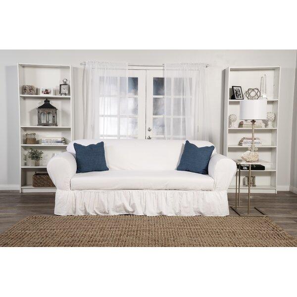 Sofa Skirted Box Cushion Slipcover by August Grove