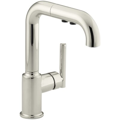 Kitchen Faucet Single Handle Pullout Polished Nickel photo