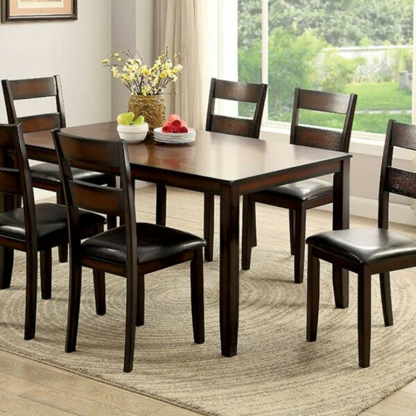Kutler 7 Piece Counter Height Solid Wood Dining Set by Red Barrel Studio