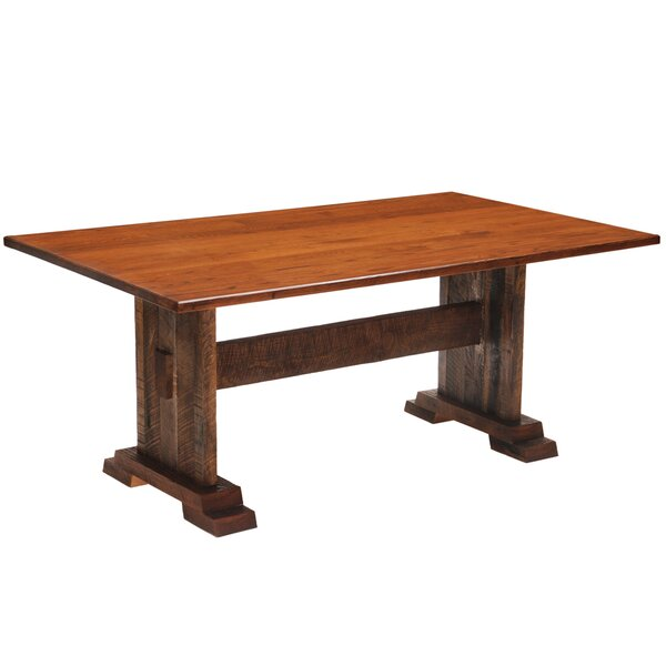 Reclaimed Barnwood Rectangle Harvest Dining Table by Fireside Lodge