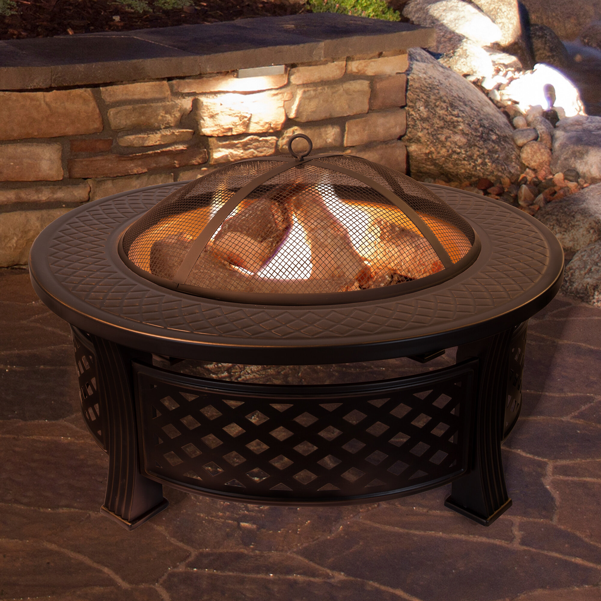 Janes Steel Wood Burning Fire Pit Table