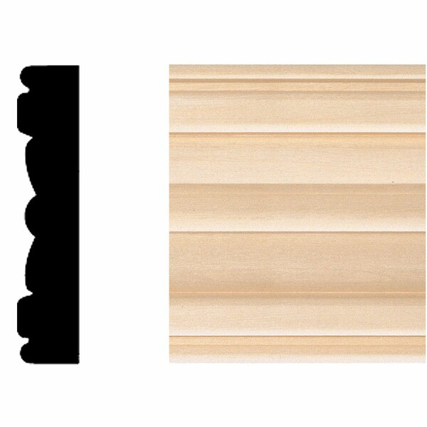 5/8 in. x 3 in. x 7 ft. Hardwood Flute Moulding by Manor House