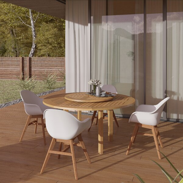 Seitz 5 Piece Teak Dining Set by Corrigan Studio