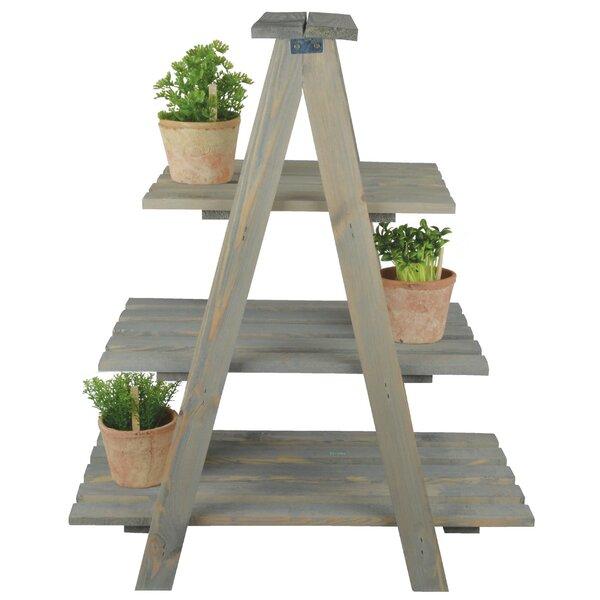 Wood Triangular Plant Stand by EsschertDesign