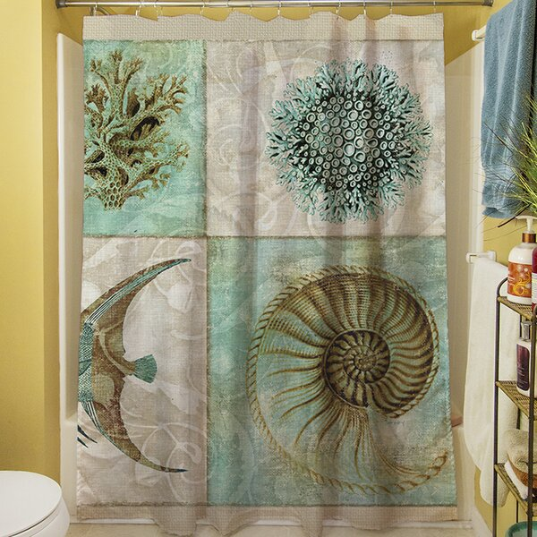 Amherst Printed Shower Curtain by Rosecliff Heights