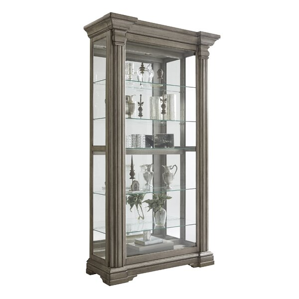 Abbigail Lighted Curio Cabinet by Ophelia & Co.