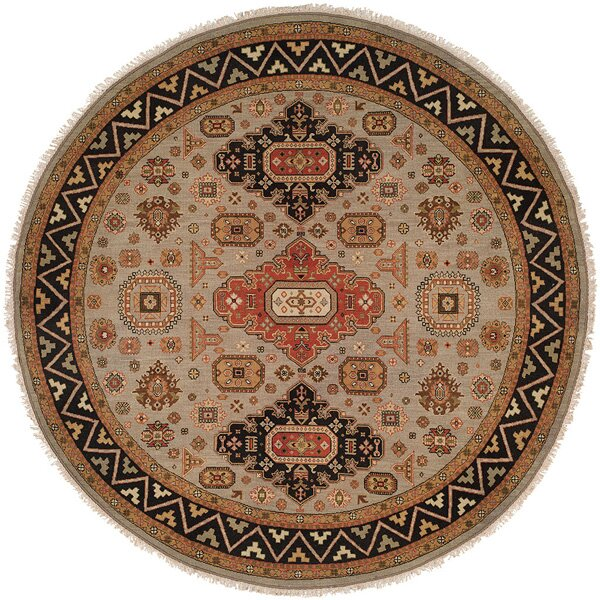 Abstract Hand-Knotted Brown/Black Rug