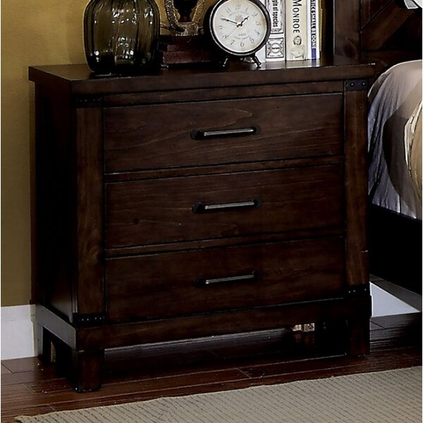 Rinaldi 3 Drawer Nightstand by Gracie Oaks