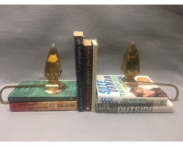 Brass Cone Stock Holder Bookends (Set of 2) by Alcott Hill