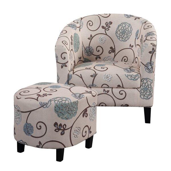 Abbottsmoor Barrel Chair and Ottoman by Alcott Hill