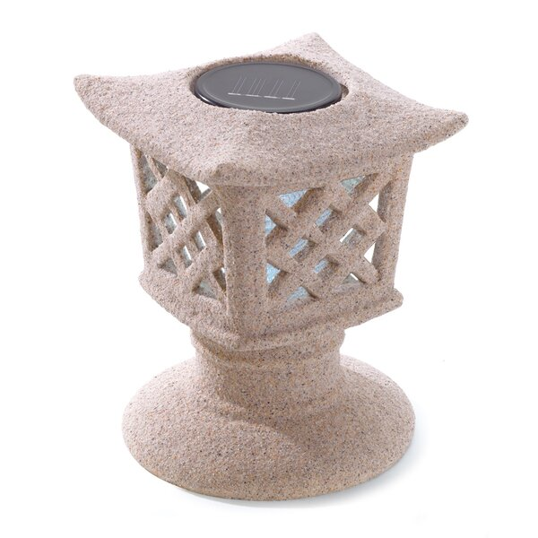 Garden Pagoda 1 Light Solar Lantern by Zingz & Thingz