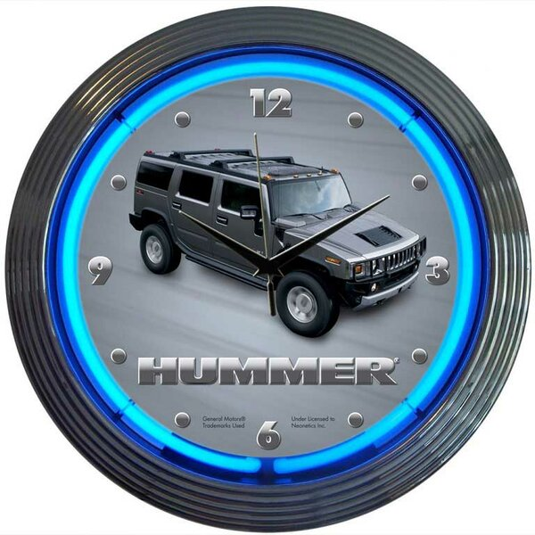 15 Hummer Wall Clock by Neonetics