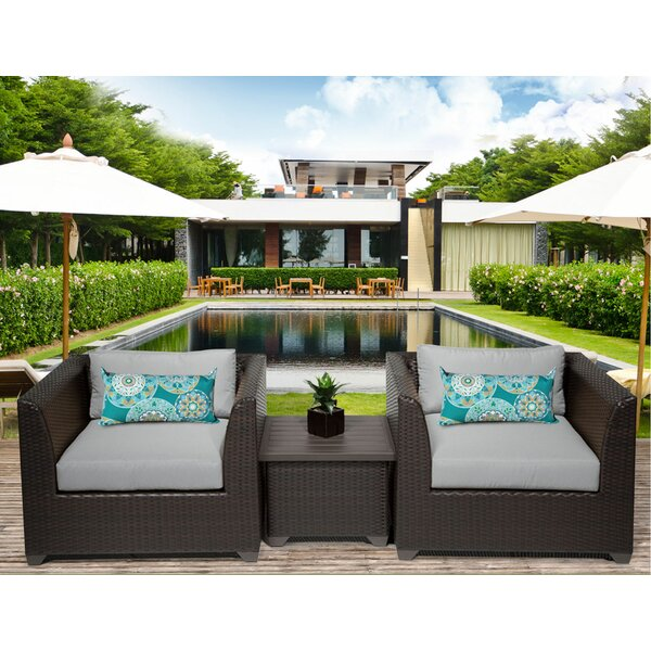 Medley 3 Piece Conversation Set with Cushions by Rosecliff Heights